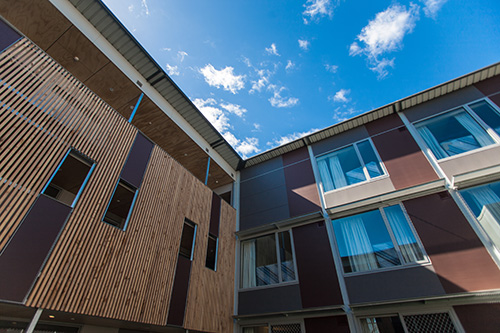 University of Tasmania Newnham Apartments using U-MAX™ 100 front double glazed suite with an awning sash