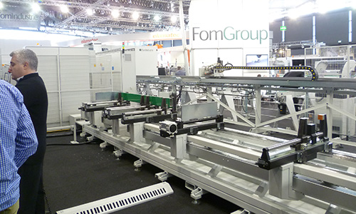 image of FOM Group display at Fensterbau