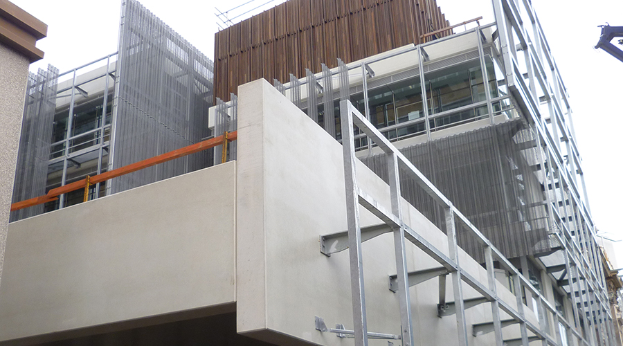 image of construction progress on Faculty of ABP project with U-MAX thermally broken framing systems