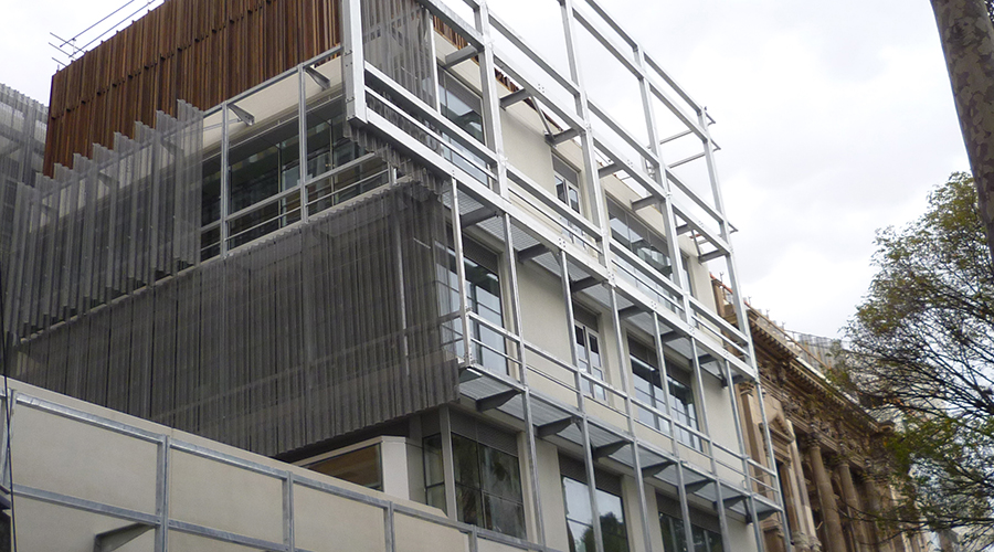 construction progress on Faculty of ABP project with U-MAX thermally broken framing systems