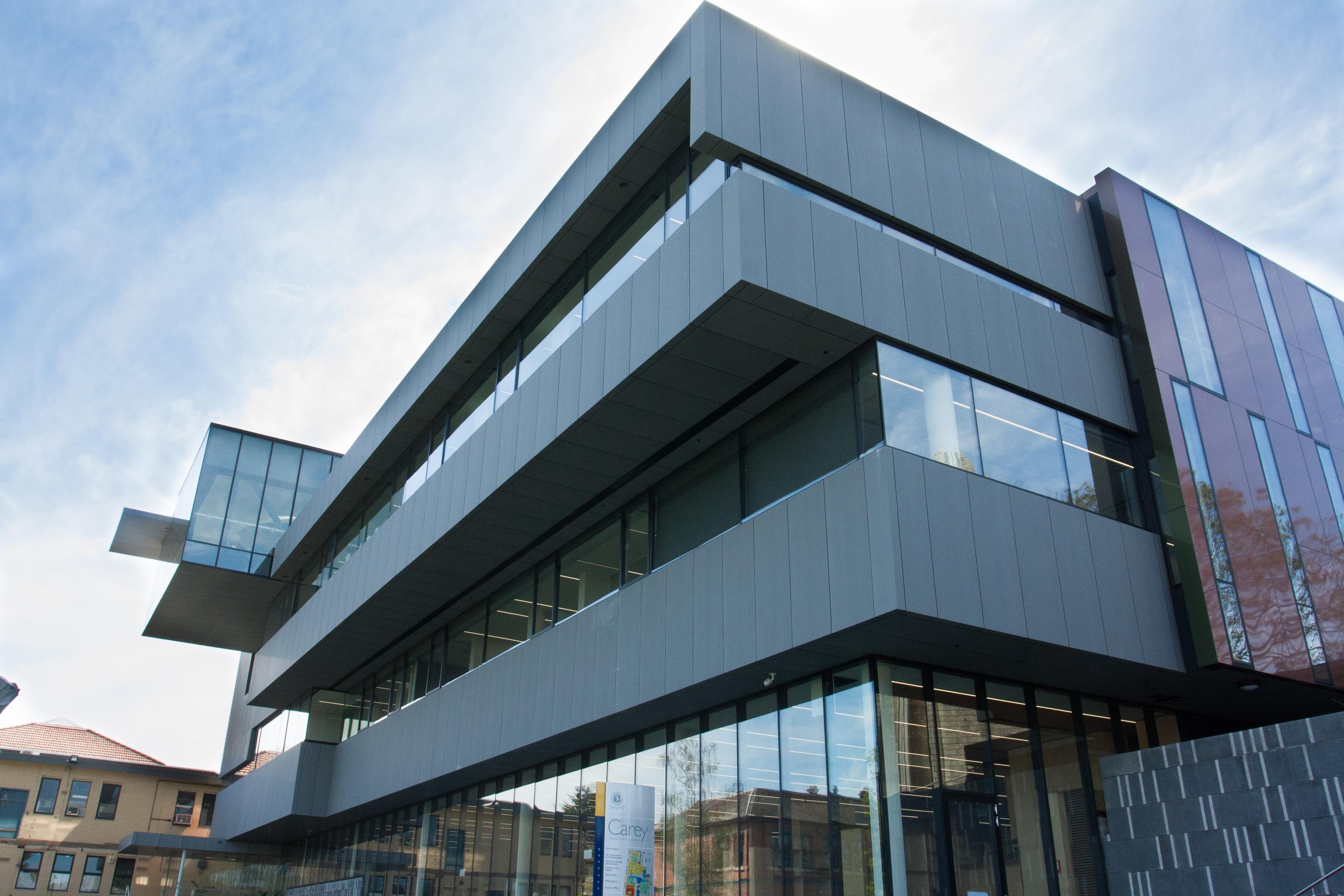 Architectural Glazing Systems : Carey baptist grammar gets innovative edge architectural