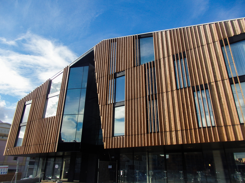 image displaying the architectural window system at MACq01 in Tasmania