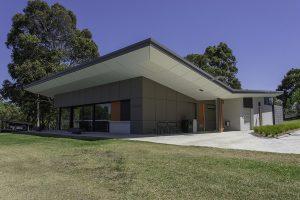 Markham Reserve Sports Pavilion MAX front double glazed windows exterior