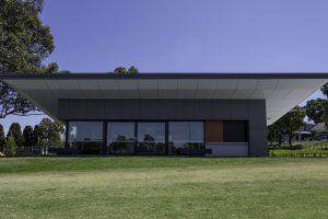 Markham Reserve Sports Pavilion MAX front double glazed windows front