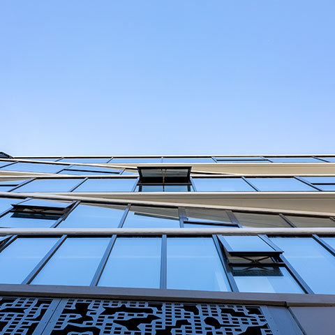 apartment building architectural glazing systems