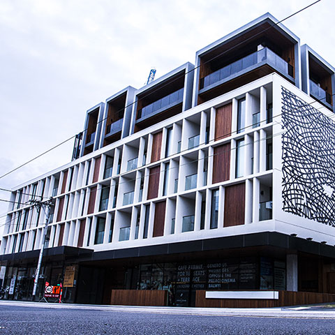 apartment building glazing system