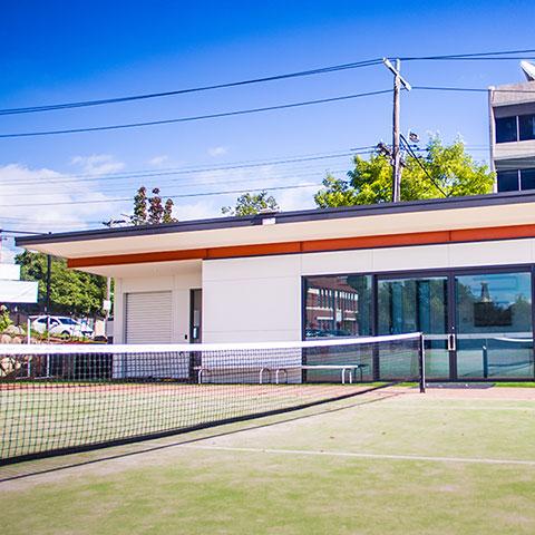 tennis club glazing system