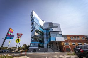 Front of Deakin Sports Science Building EDGE Architectural Curtain Wall