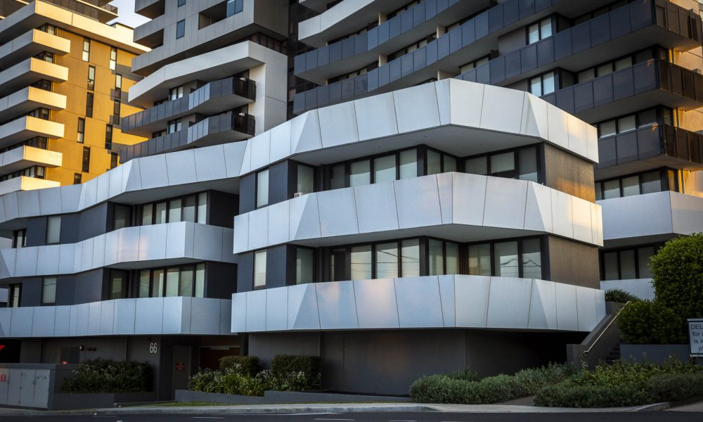 Double glazed windows at Marque Apartments in Maribyrnong