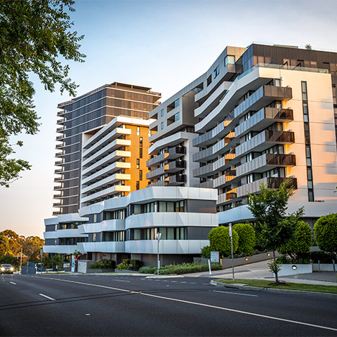 Marque Apartments Maribyrnong - U-MAX Front Double Glazed Windows Systems, U-MAX Sliding Door, U-MAX Hinge Head Awning Sash