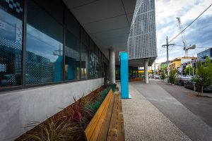 EDGE Architectural window systems at Prahran Vertical High School's entrance