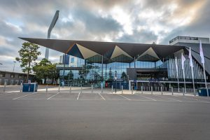 GMHBA Stadium - Brownlow Stand External Glass Facade EDGE Curtain Wall System SG182
