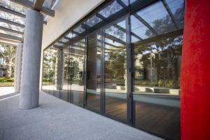 Commercial door is thermally broken as part of passive house design