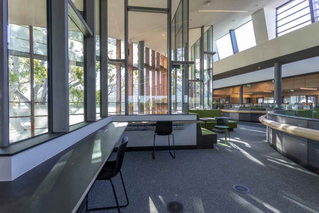 Upstairs of the Springvale library