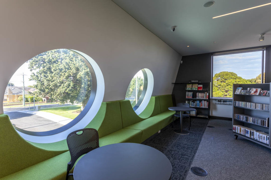 Circular windows of the new Springvale Library