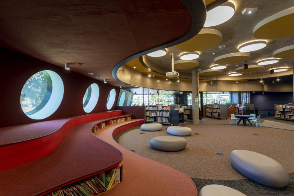 Round windows at the new Springvale Library