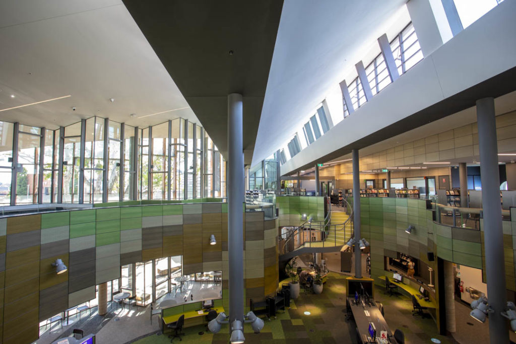 Inside of the new Springvale Library & Community Hub